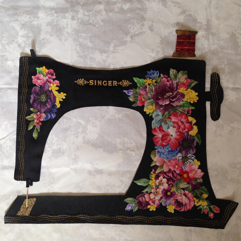 WTR.19d - Vintage Sewing Machine Collage - WORKSHOP