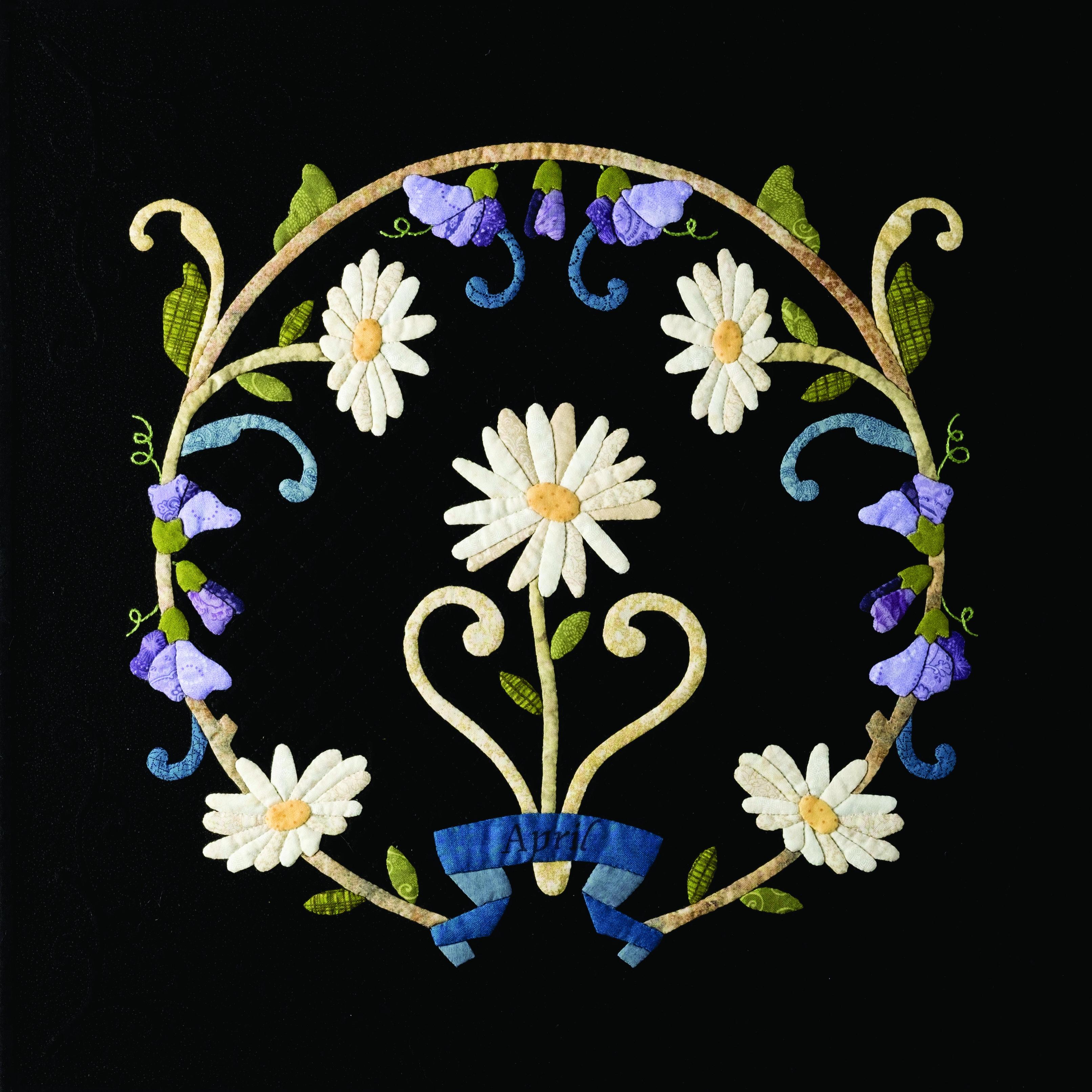 WKW.3,d - Birth Flower Appliqué - WORKSHOP