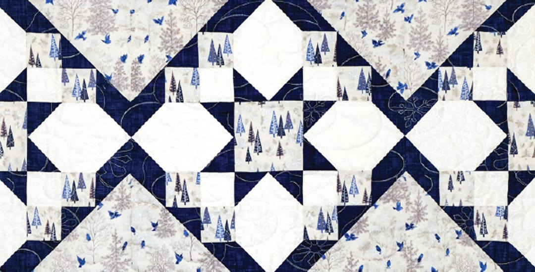 photo of a quilted star table runner