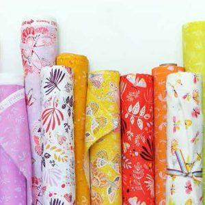 photo of rolls of fabric
