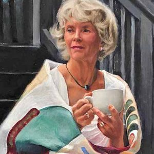 photo of Norman Lockington's painting of his wife Gail
