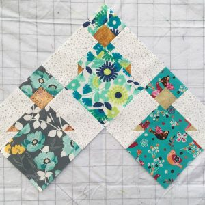 photo of three International Sisters quilt blocks