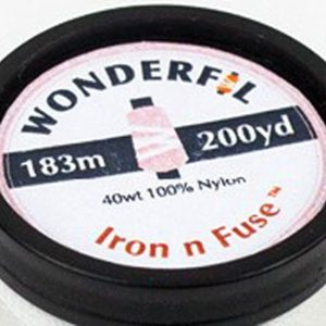 photo of the end of a spool of WonderFil Iron n Fuse thread