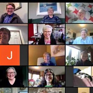 photo of participants on a Zoom call