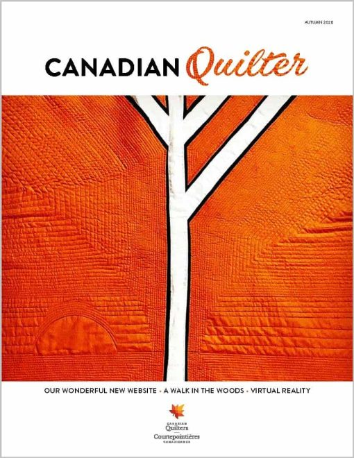 photo of Autumn issue of Canadian Quilter magazine