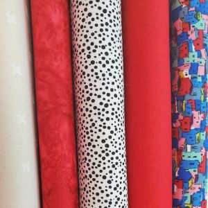photo of the five fabrics for the 2021 TrendTex Challenge