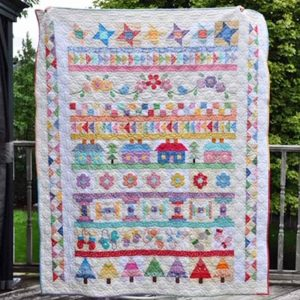 photo of Block of the Month quilt by Irene Philp