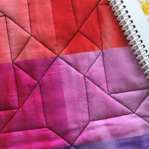photo of edge-to-edge quilting pattern