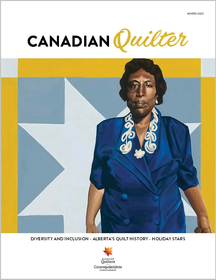 photo of Autumn 2020 cover of Canadian Quilter magazine