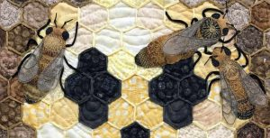 photo of To Bee of Not to Bee art quilt