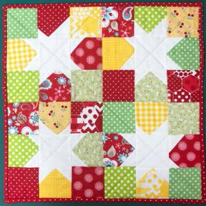 photo of Twinkle quilted table topper