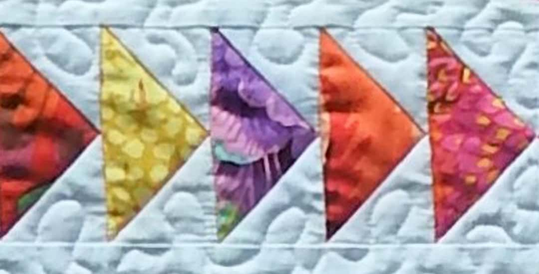 photo of Flying Geese quilt blocks