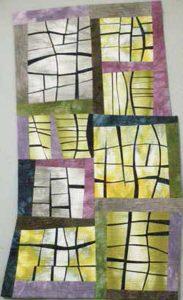 Windowpanes art quilt