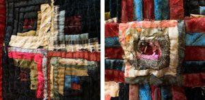 antique Log Cabin quilt details