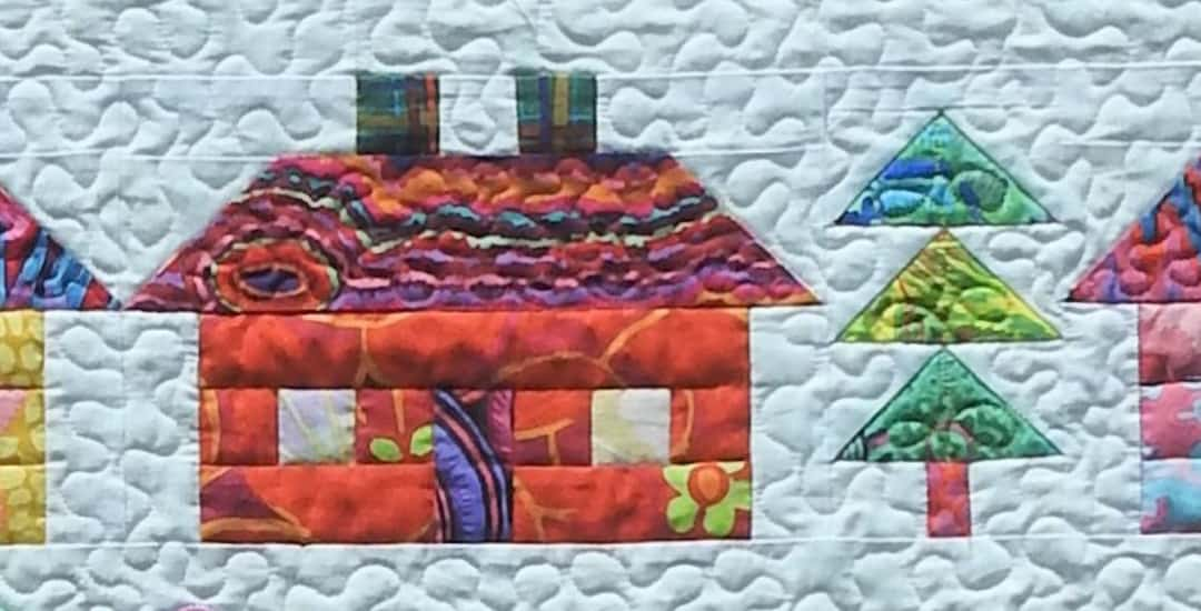 Row of the Month Quilt Along: Row 7, Houses & Trees