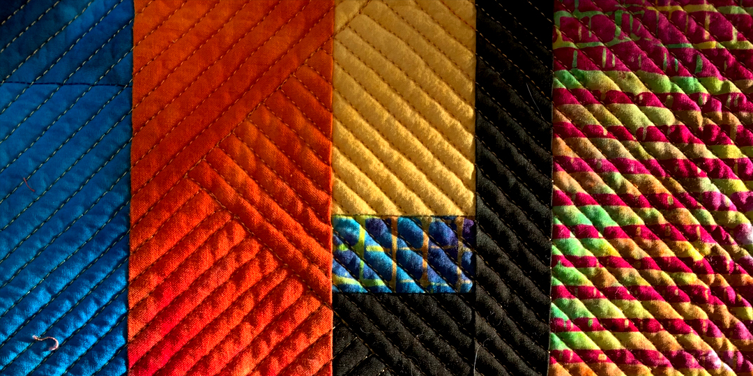 Details of the quilting on Debra McPherson's In Between