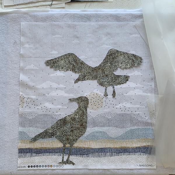 Quilt inspired by Jonathan Livingston Seagull